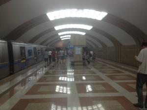Rayimbek Batyr Metro Station in Almaty