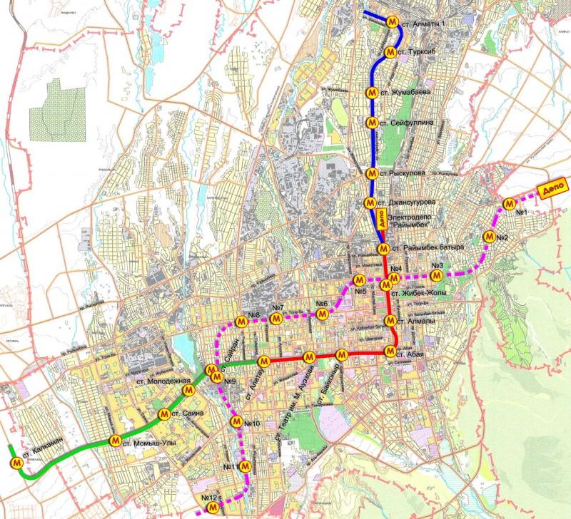 Almaty Metro Map Almaty Kazakhstan